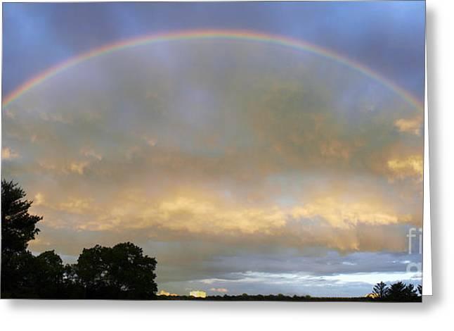 Rainbow Greeting Card by Tony Cordoza