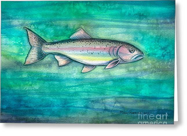 Rainbow Trout Greeting Card by Molly Harrison