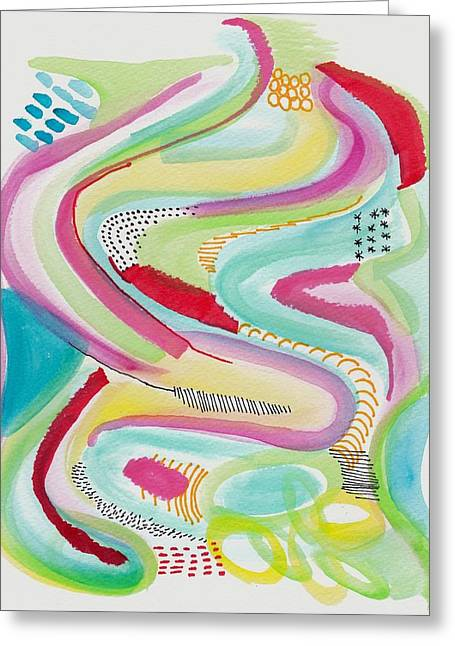 Rainbow Wave Greeting Card