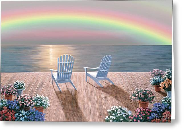 Rainbow Wishes Greeting Card