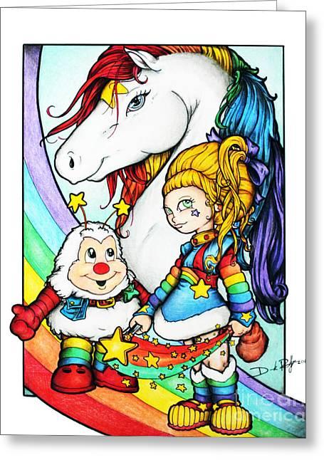 Rainbows Briter Greeting Card by Derrick Rathgeber