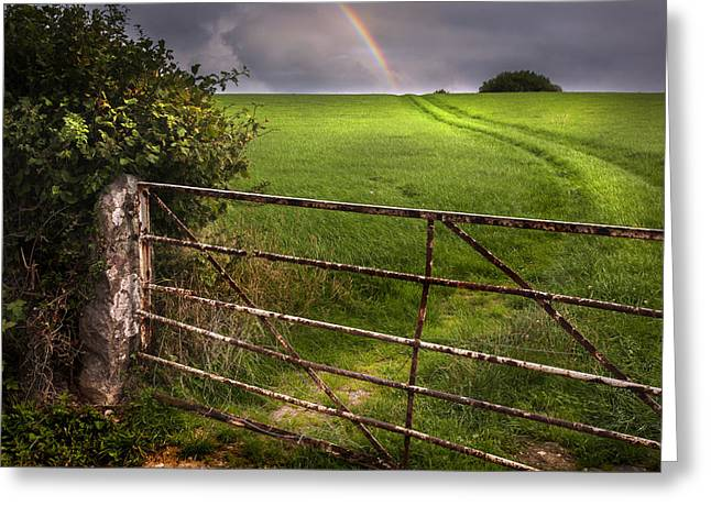 Rainbow's End Greeting Card by Mal Bray