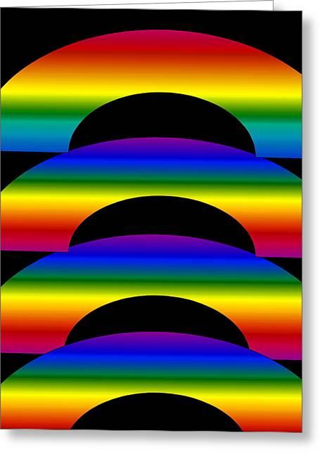 Rainbows Greeting Card by Gayle Price Thomas