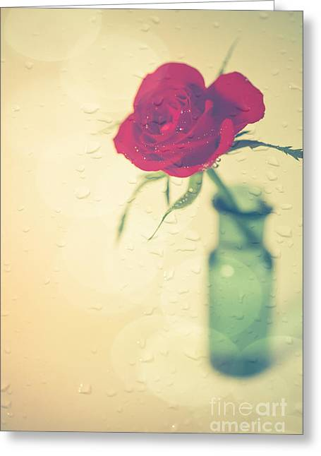 Raindrops On Roses . . . Greeting Card by Jan Bickerton