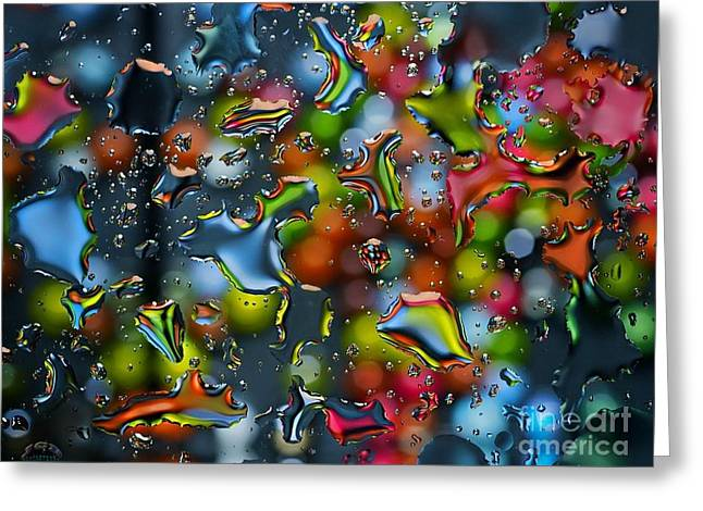 Raindrops Greeting Card by Sue Rosen
