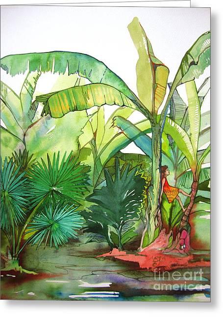 Rainforest Greeting Card by Maya Simonson