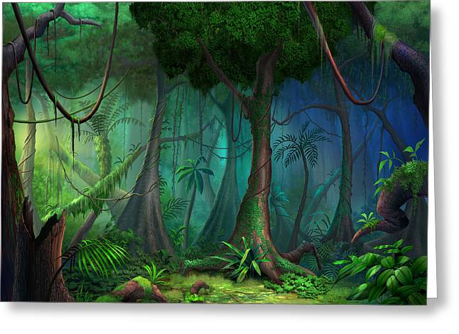 Rainforest Greeting Card by Philip Straub