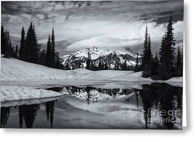Rainier Reflections Greeting Card by Mike  Dawson