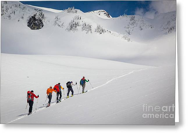 Rainier Snowshoers Greeting Card by Inge Johnsson