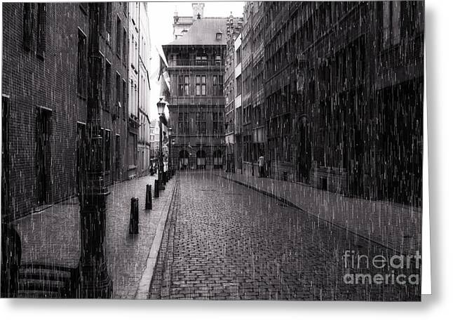 Raining In Amsterdam Greeting Card