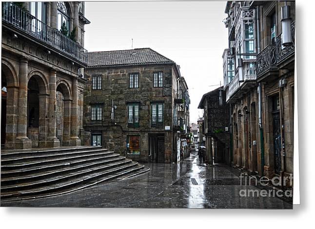 Raining In Pontevedra Greeting Card by RicardMN Photography