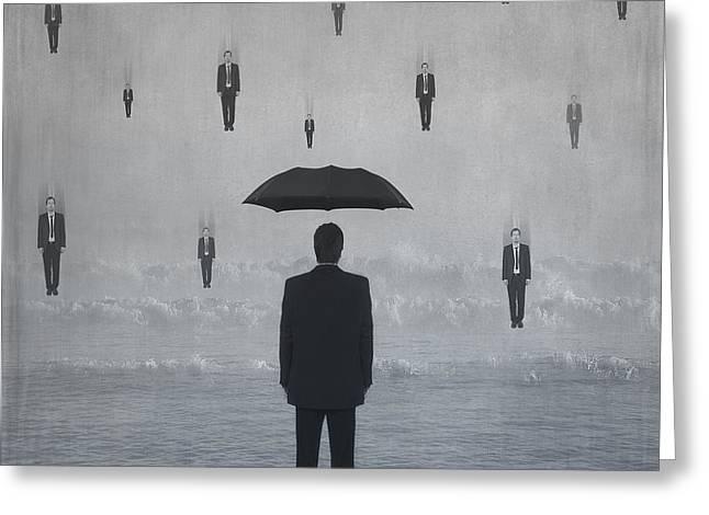 Raining Men Greeting Card by Svetlana Sewell