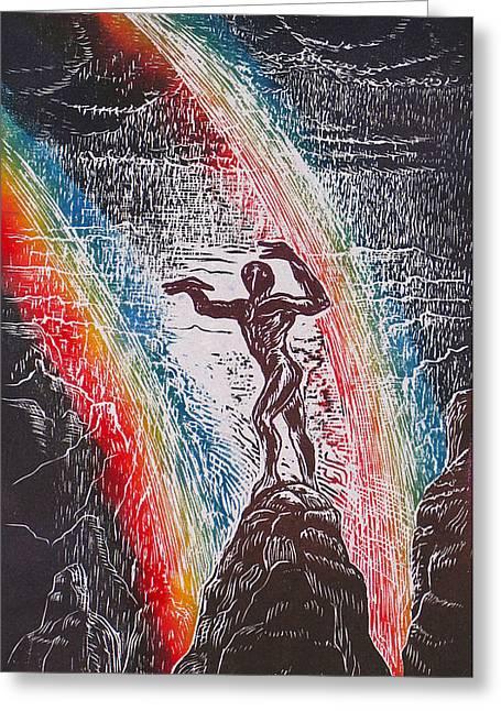Rainmaker Greeting Card by Maria Arango Diener