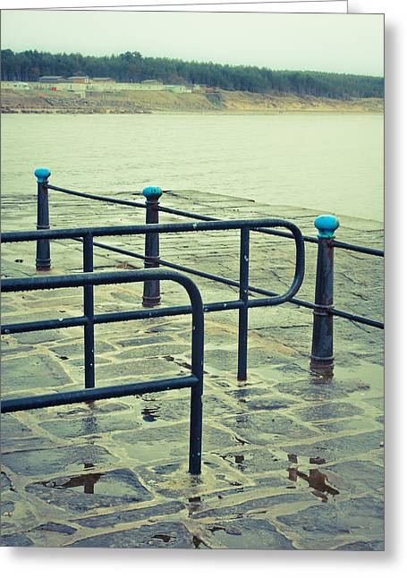Rainy Day At The Sea Front Greeting Card