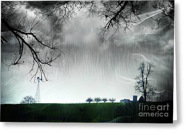 Rainy Day Farm Ver-5 Greeting Card
