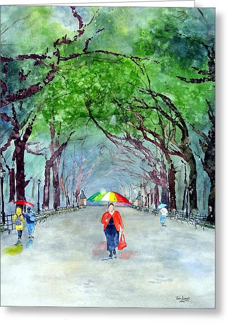 Rainy Day In Central Park Greeting Card