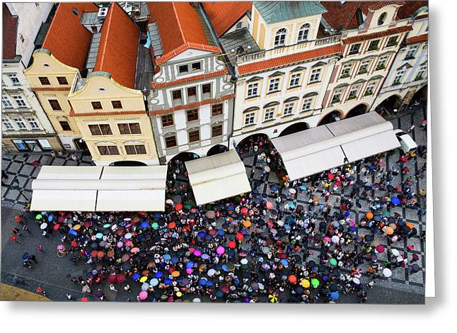Rainy Day In Prague-1 Greeting Card by Diane Macdonald