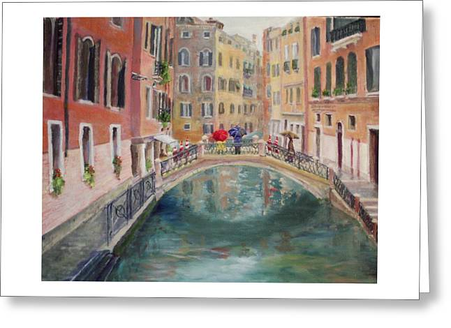Rainy Day In Venice Greeting Card