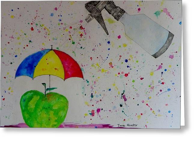Rainy Day Greeting Card by Isaac Alcantar