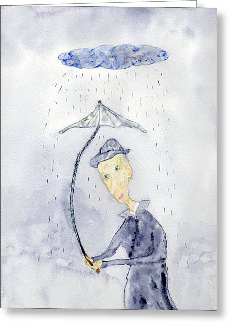 Rainy Day Man Greeting Card