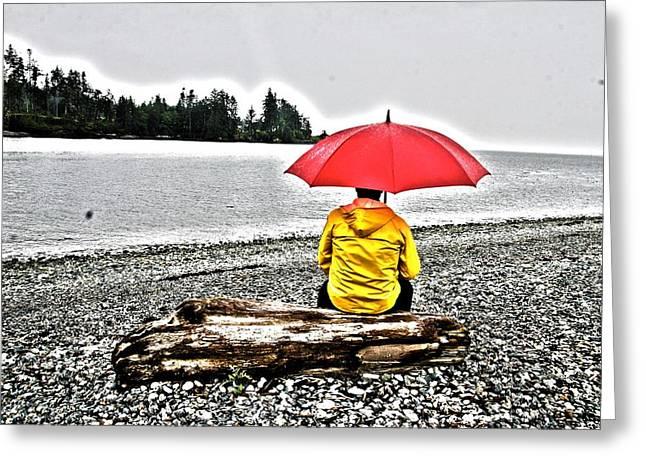 Rainy Day Meditation Greeting Card