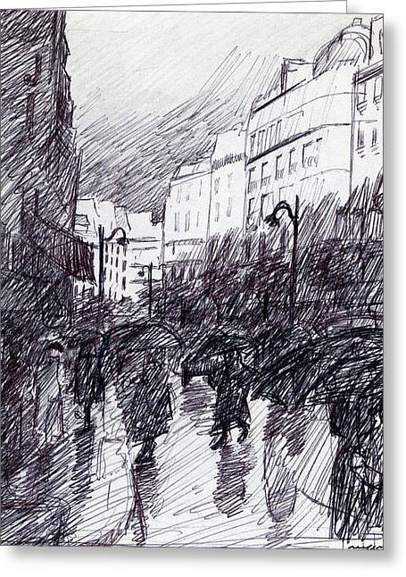 Rainy Day Paris Greeting Card
