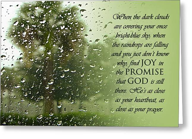 Rainy Day Promise Greeting Card by Carolyn Marshall