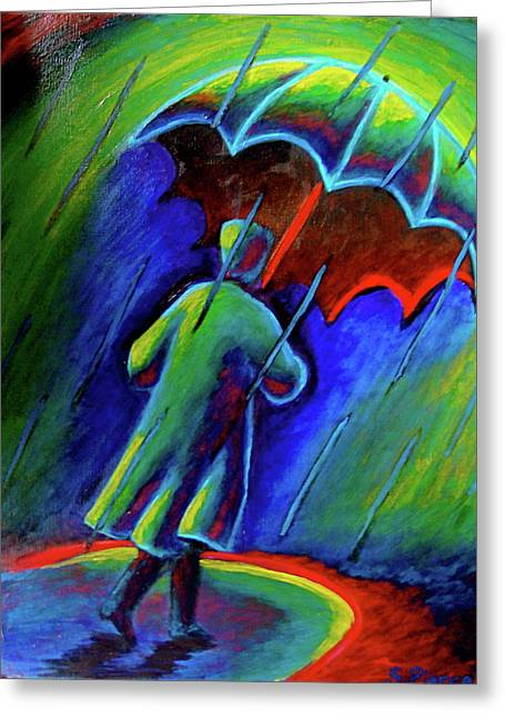 Rainy Day Greeting Card by Sebastian Pierre