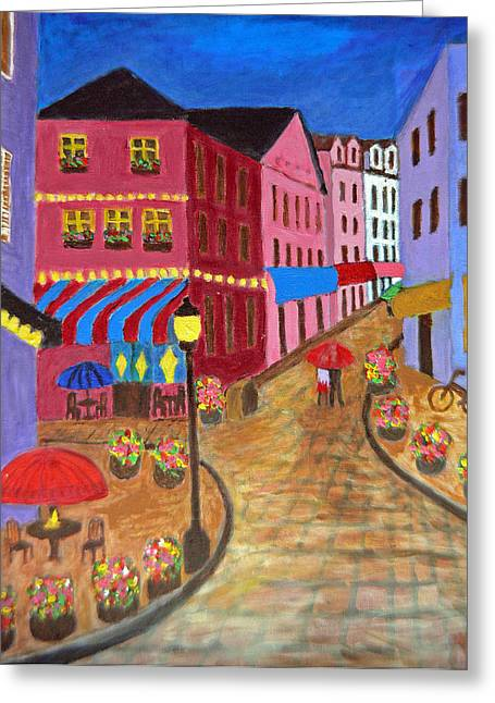 Rainy Night In Paris Greeting Card