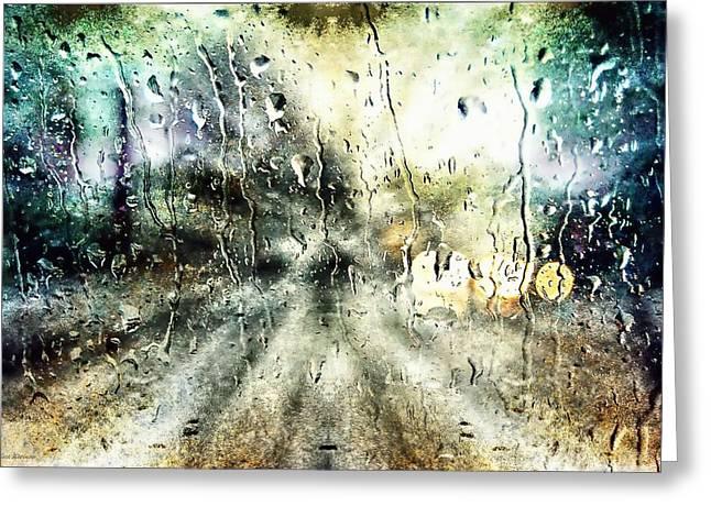 Rainy Night Greeting Card