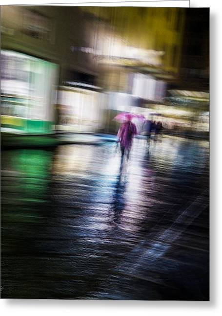 Rainy Streets Greeting Card