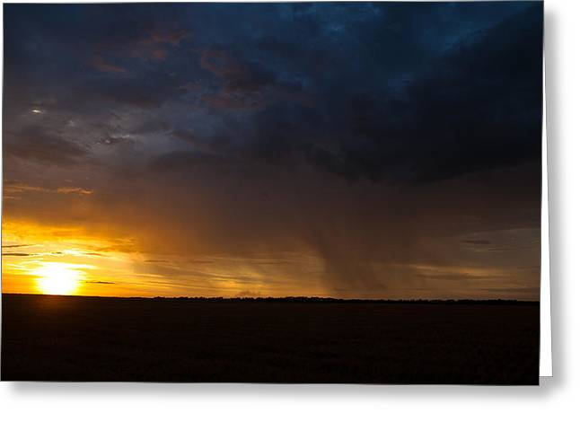Rainy Sunset  Greeting Card by Brandon  Ivey