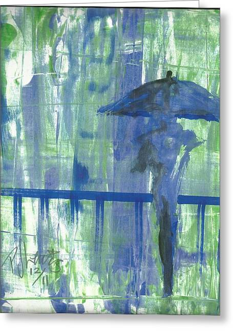 Rainy Thursday Greeting Card by P J Lewis