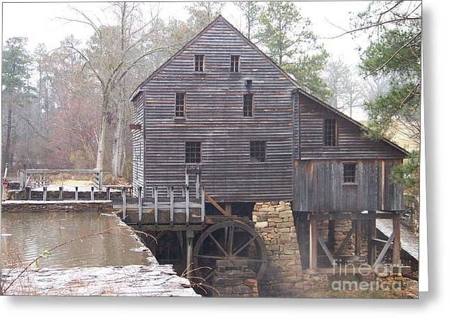 Rainy Yates Mill Greeting Card by Kevin Croitz