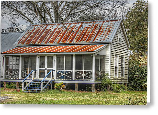 Raised Cottage With Tin Roof Greeting Card by Lynn Jordan