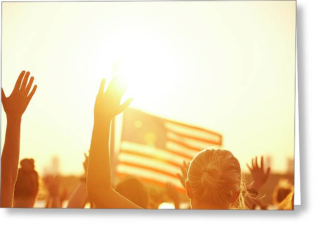 Massachusetts flag greeting cards page 7 of 30 fine art america raised hands of women at yoga class greeting card m4hsunfo