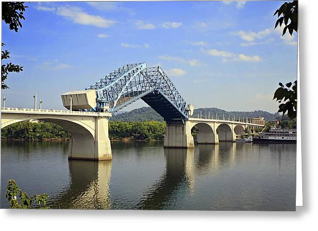 Raising Of The Bridge Greeting Card by Gregory Cook