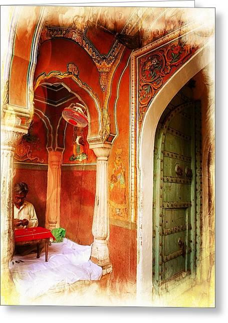 Rajasthani Jewelry India Jaipur Greeting Card