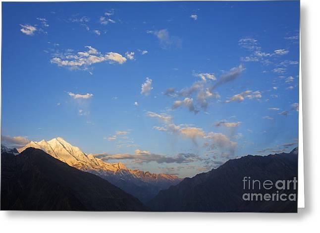 Rakaposhi Mountain In The Karakorum Pakistan Greeting Card by Robert Preston