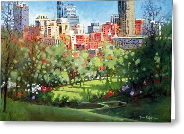 Raleigh Spring Skyline Greeting Card