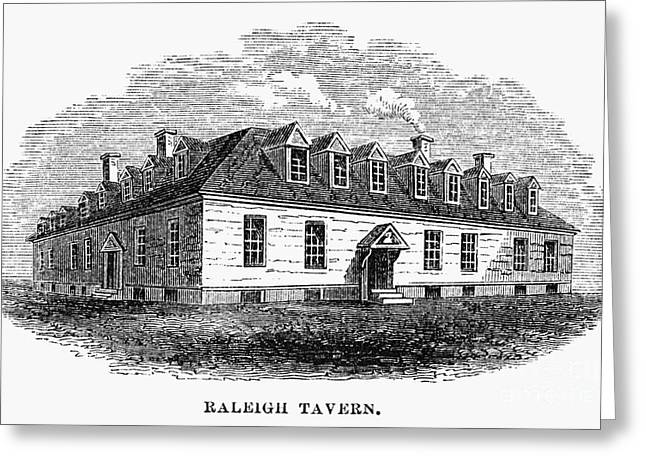 Raleigh Tavern, 1770s Greeting Card