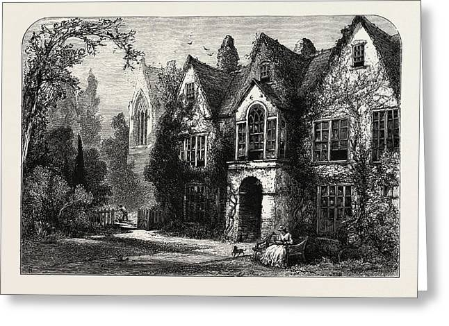 Raleighs House At Youghal Greeting Card by Irish School