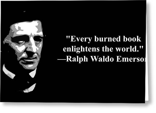 Ralph Waldo Emerson On Censorship  Greeting Card by Artist Singh