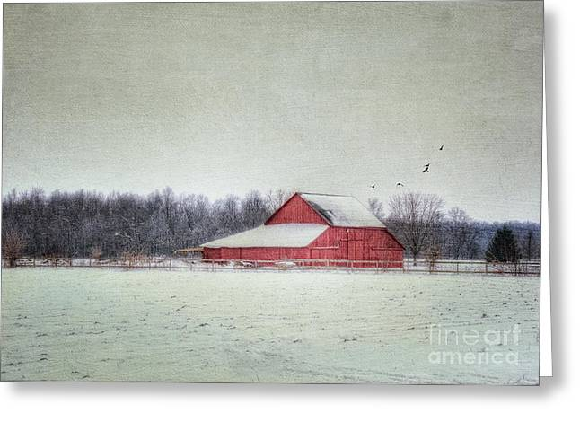 Ralph's Barn Greeting Card by Pamela Baker