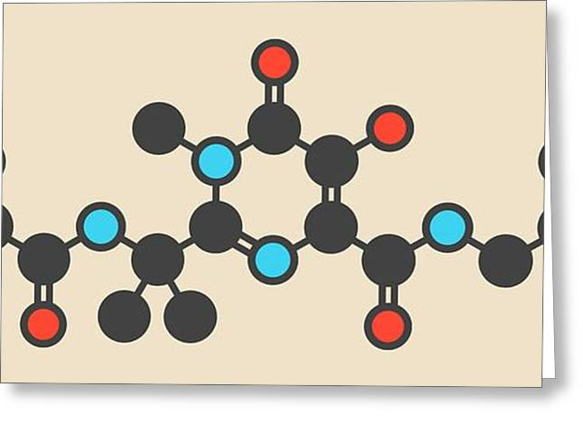Raltegravir Hiv Drug Molecule Greeting Card by Molekuul