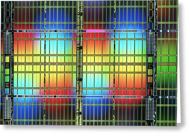 Ram Random Access Memory Chip Greeting Card by Alfred Pasieka