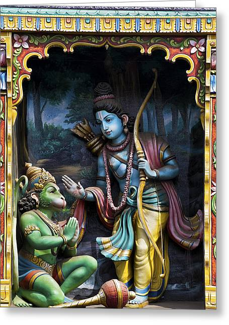 Rama And Hanuman  Greeting Card by Tim Gainey