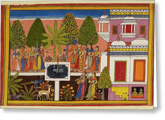 Rama And Sita Are United In Marital Happi Greeting Card by British Library