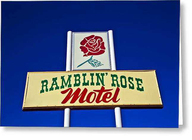 Ramblin' Rose Motel Greeting Card