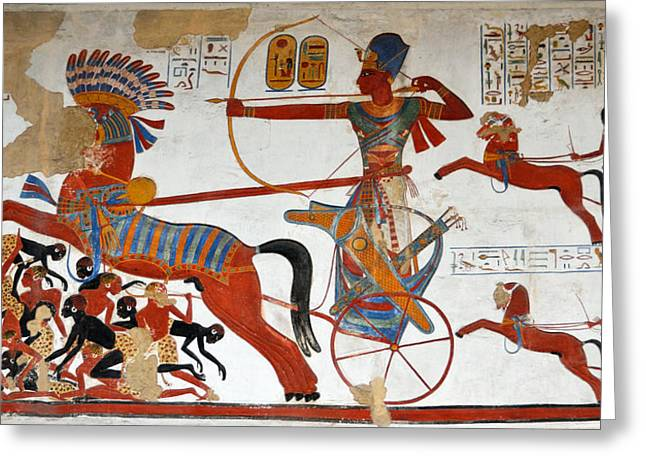 Ramesses II In Battle Greeting Card by RicardMN Photography